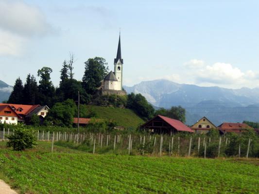 Cerca de Jesenice, Eslovenia