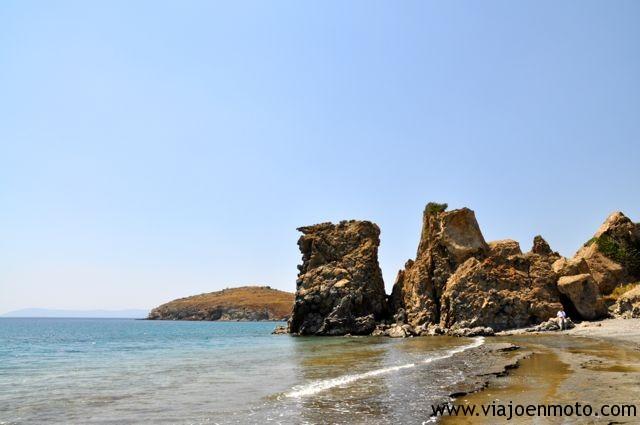 Playa volcánica en Turquía