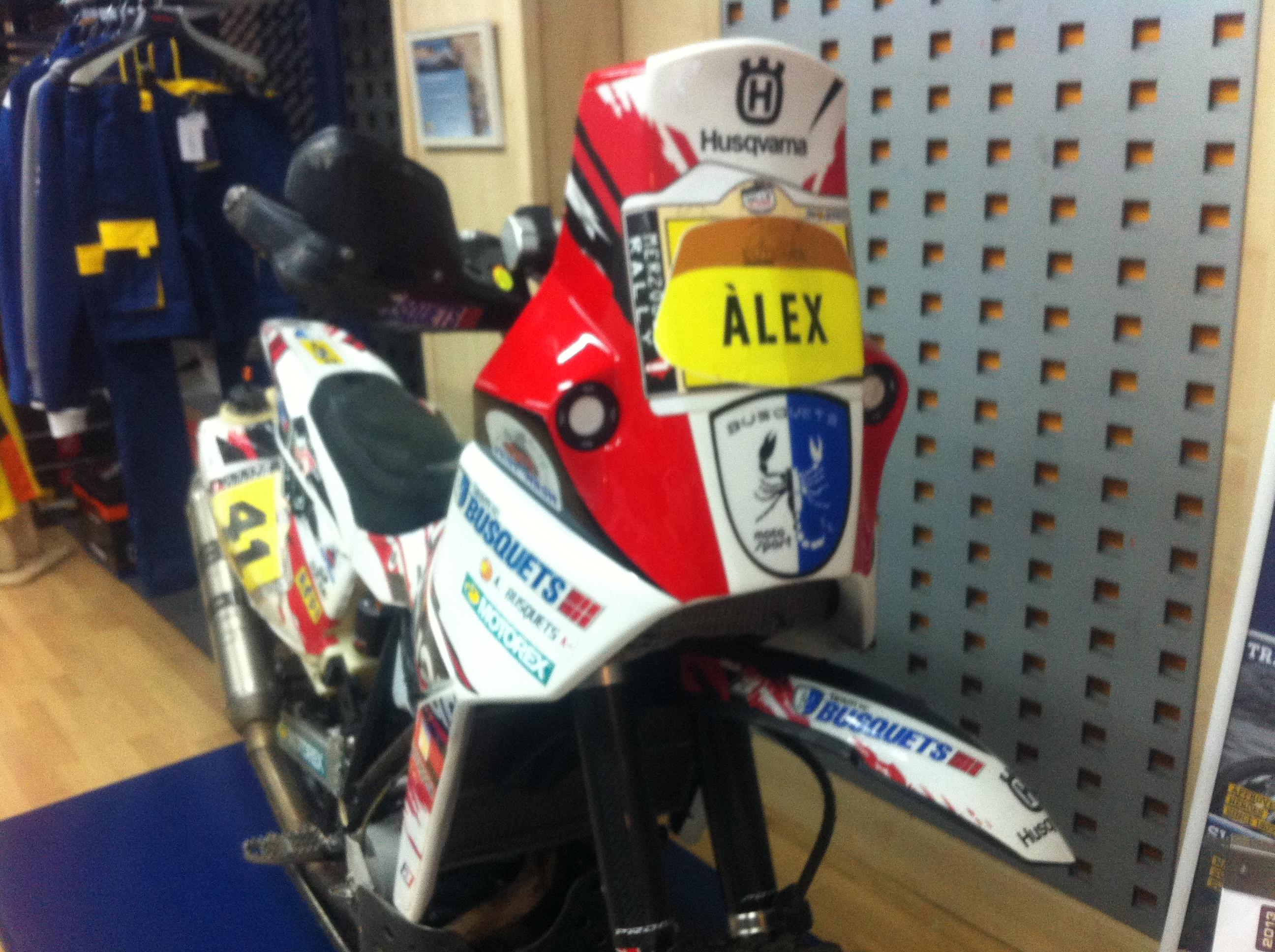 Esta es la moto del otro protagonista, Álex Busquets