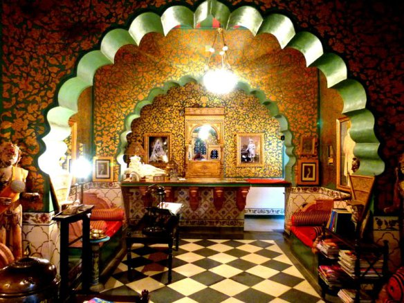Recepción del hotel Bhairon
